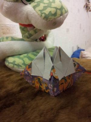 красивая коробка оригами