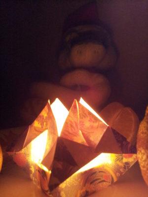 оригами подсвечник