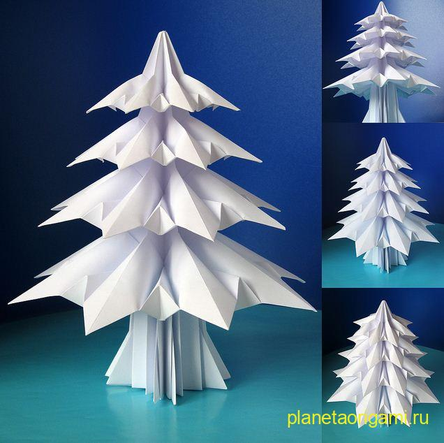 Модульное оригами елка схема модульное - Мода летняя фото.