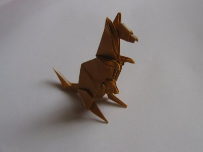 кенгуру из бумаги
