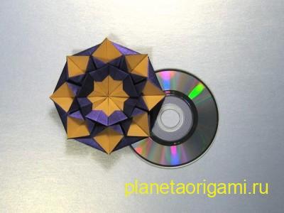 Коробочка оригами в виде звезды