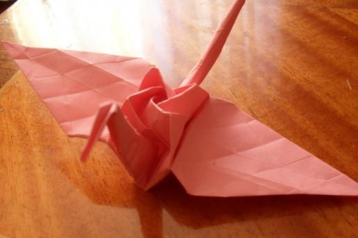 журавлик с розой