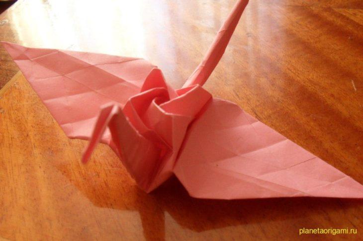 Как сделать бумажного журавлика фото