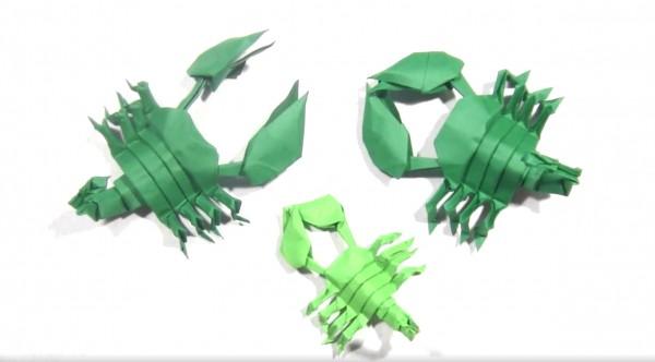 Оригами скорпион по схеме