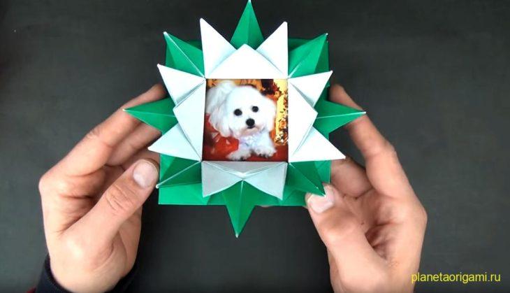Оригами коробочка-лотос по Джереми Шейфера