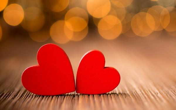 Влюбленные сердца из модулей