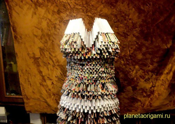 Оригами платье-маска от Натальи Хоменко