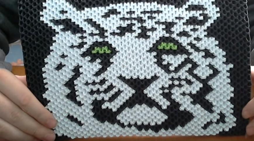 Модульное оригами картина тигр схемы