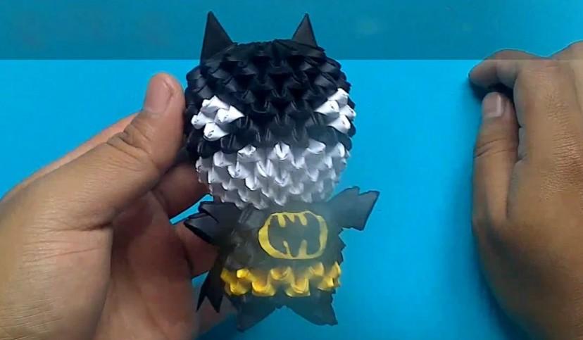 Оригами из треугольных модулей.видео