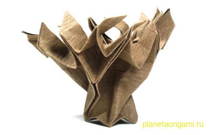 Старое дерево оригами по схеме