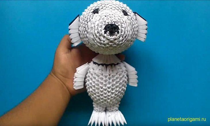 Собачка из модульного оригами 41