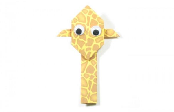 Оригами жираф для детей