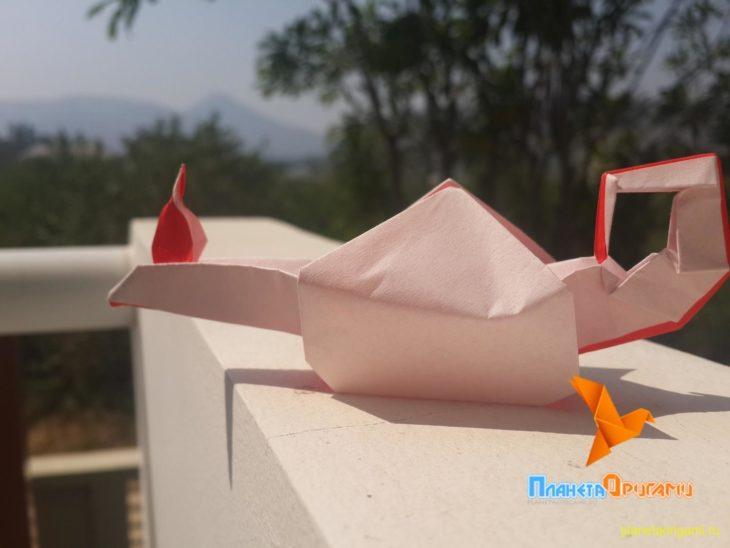 оригами лампа алладина