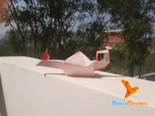 бумажная лампа алладина оригами