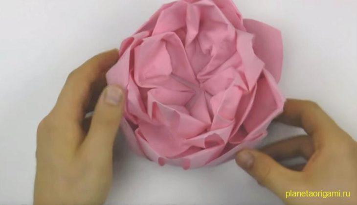 Оригами цветок лотоса
