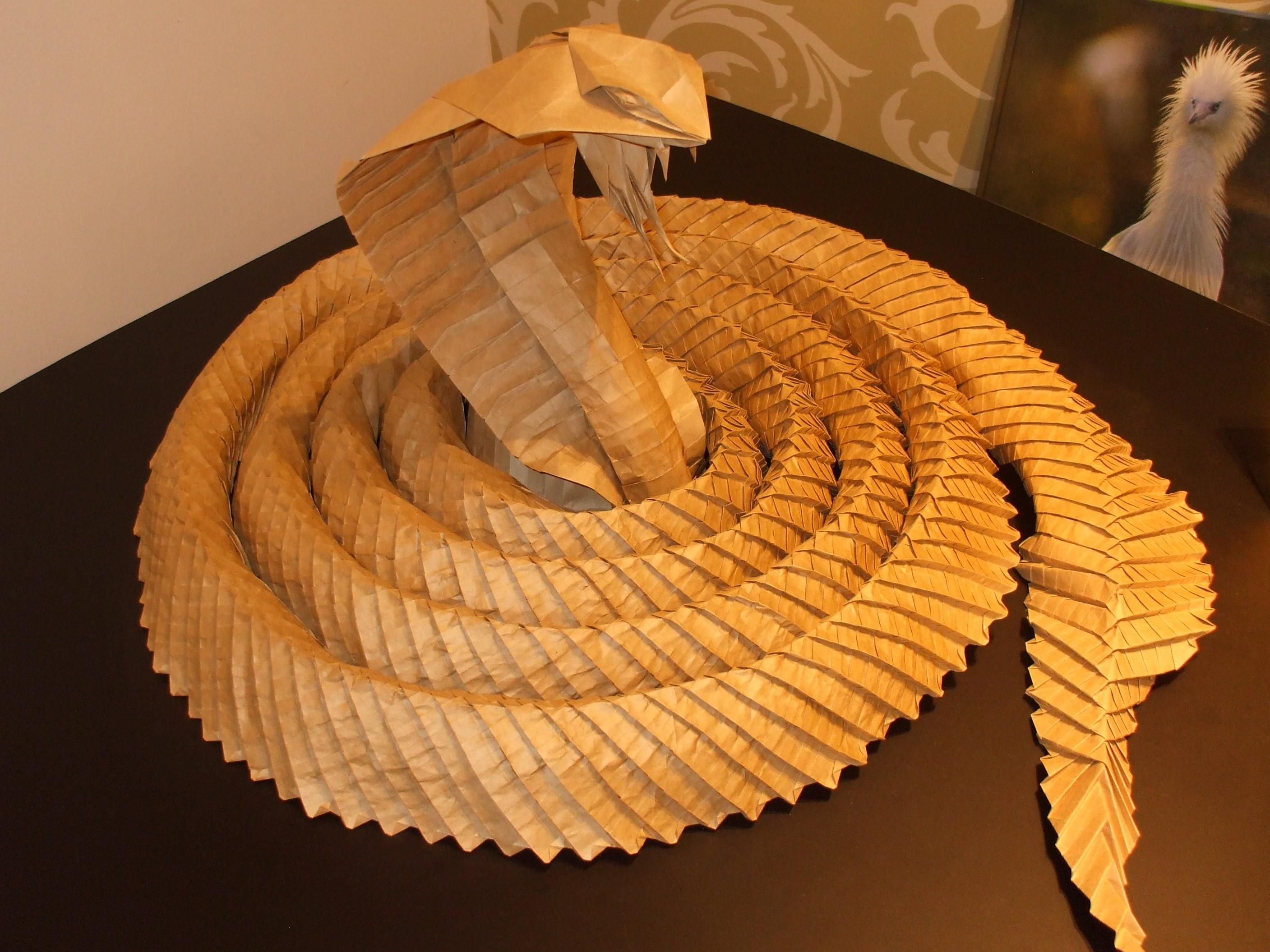 оригами кобра