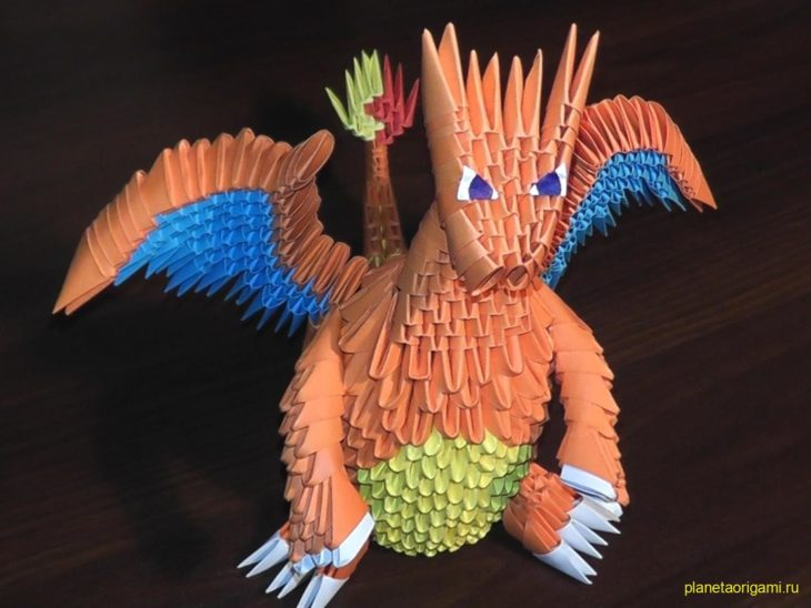 оригами Покемон Charizard