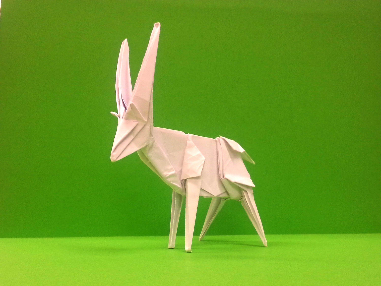 Оригами антилопа