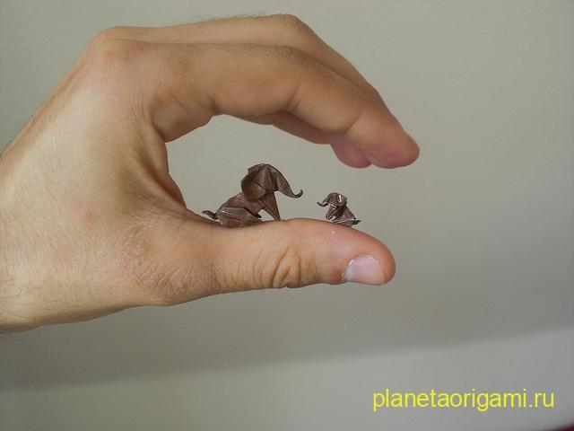 Оригами слонята