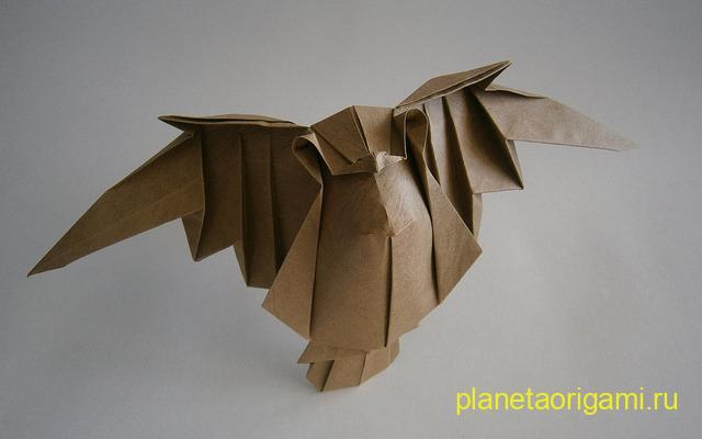 Летящая сова пошаговое - 92af