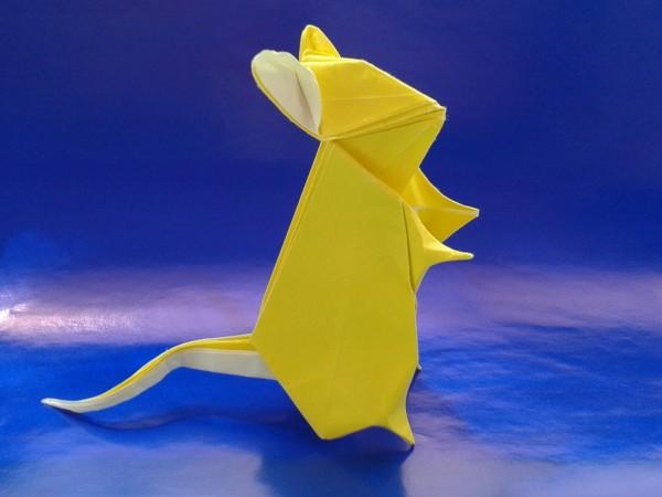 Оригами мышь по схеме Seth