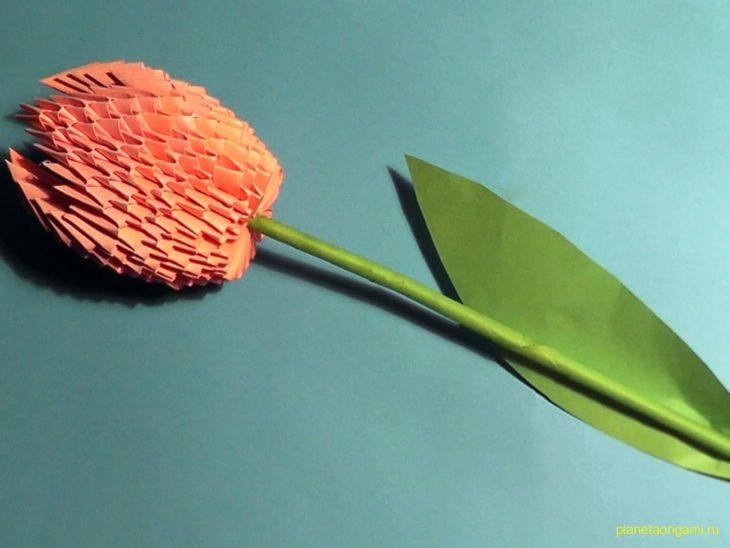 Оригами цветы из модулей