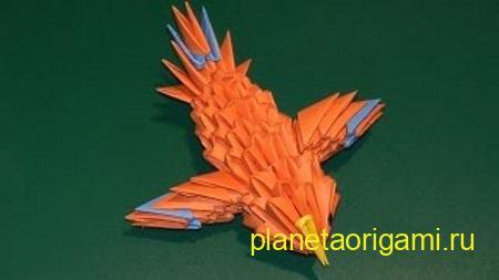 Канарейка из треугольных модулей