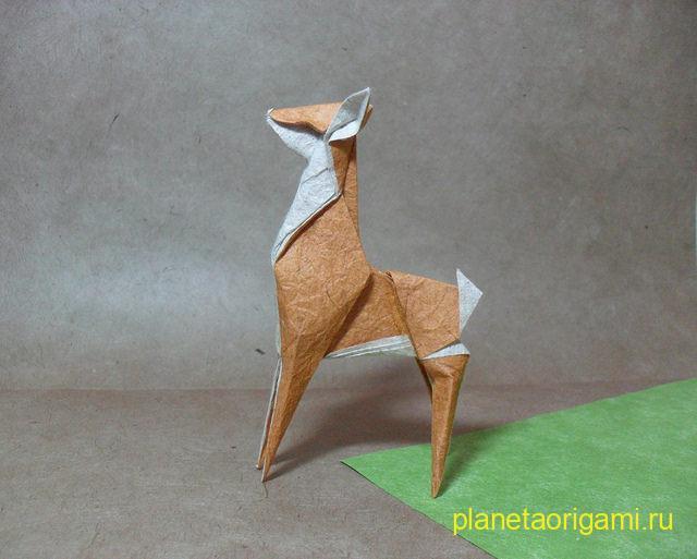 оригами олень