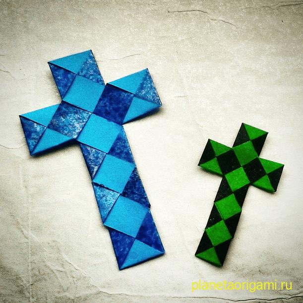 Оригами крестик из ленты от Alexander Kurth