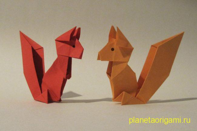 Простая белка: оригами для детей