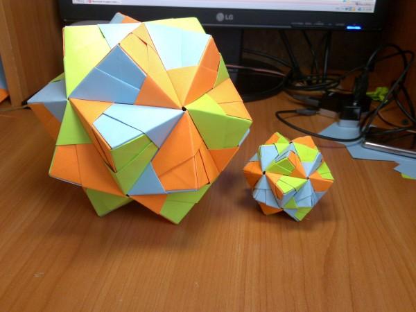 Вращающийся тетраэдр по схеме
