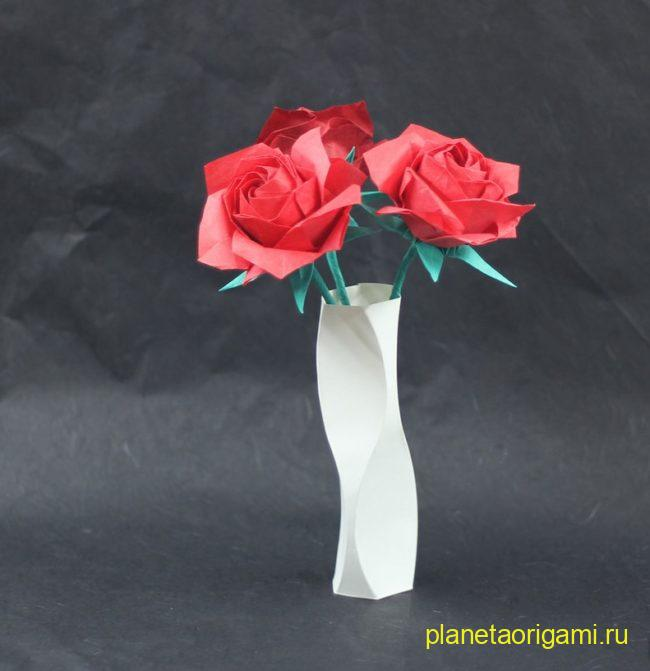 Оригамии танцующая ваза по схеме Тадаши Мори (Tadashi Mori)