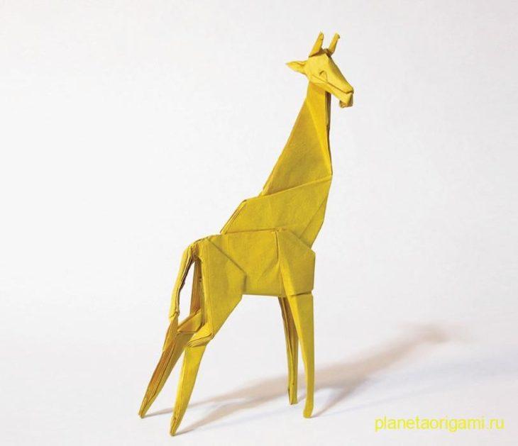 Оригами жираф по схеме Seth