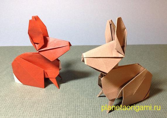 Оригами кролики по схеме Сета Фридмана (Seth Friedman)