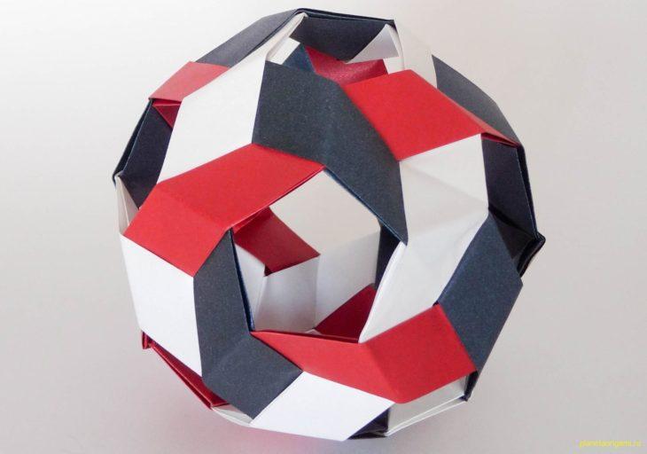 Оригами кусудама Пентагон по схеме Джана Маэкава (Jun Maekawa)