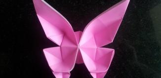 Оригами бабочка по схеме Марка Киршенбаума (Marc Kirschenbaum)