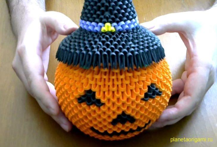 Оригами шляпа ведьмы к