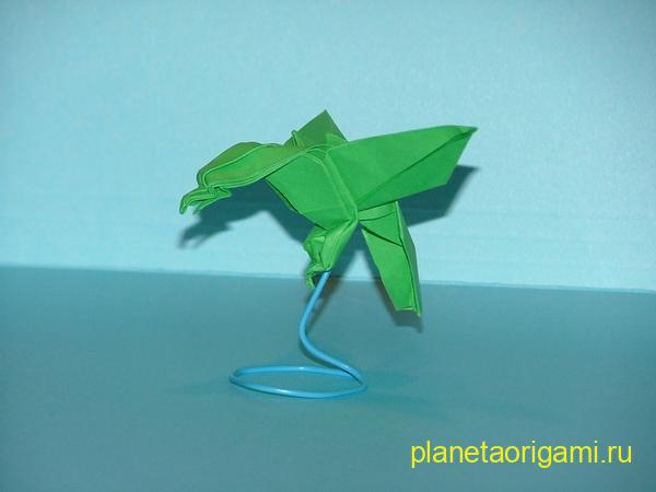 Оригами орёл по схеме Джозефа Ву (Joseph Wu)
