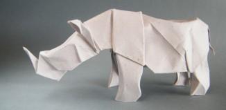 Оригами носорог по схеме Лионелья Альбертино (Lionel Albertino)