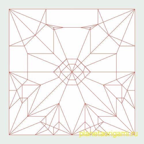Схема сборки оригами ласточки Сифо Мабоны (Sipho Mabona)