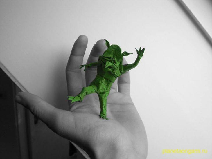 Оригами гоблин по схеме Александра Курта (Alexander Kurth)