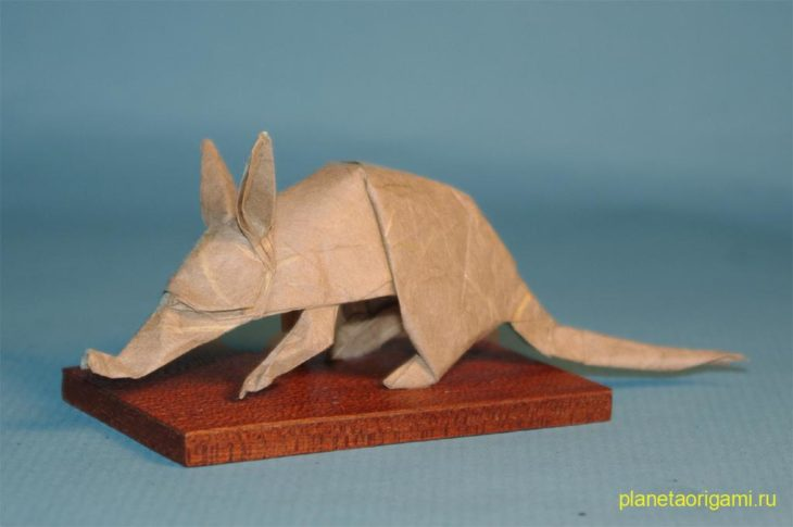 Оригами трубкозуб по схеме Квентина Троллипа (Quentin Trollip)