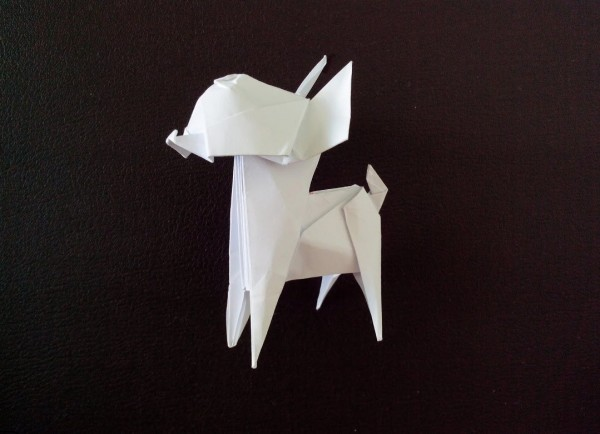Оригами собака Чихуахуа по