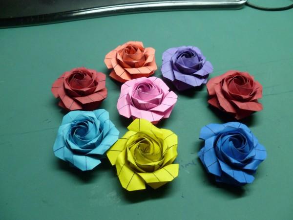Роза (Pentagon Rose) по схеме Naomiki Sato