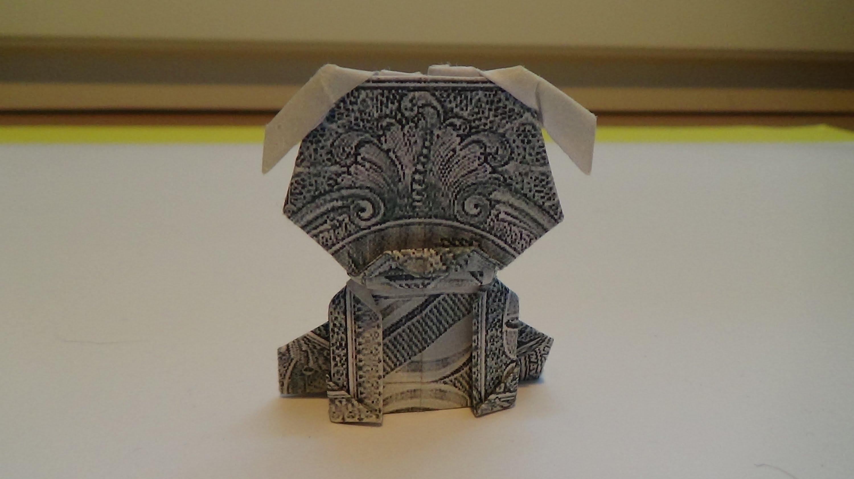 Оригами собака из денег от Jo Nakashima