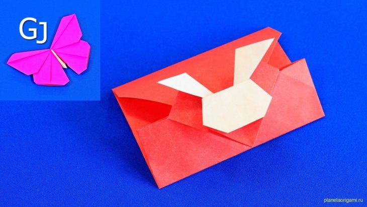 Подарочный конверт в форме кролика