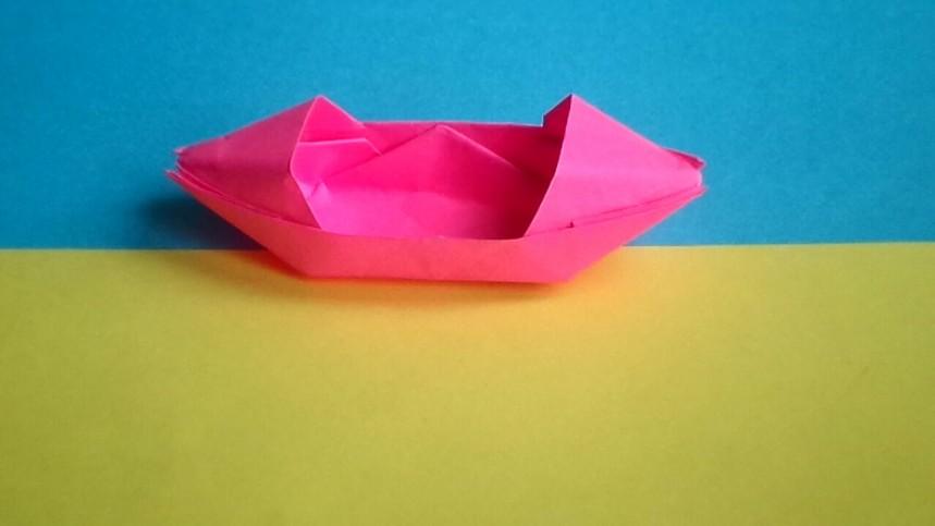 оригами лодка для дошкольников