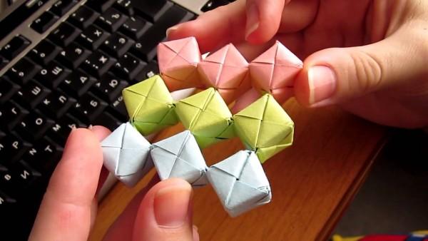 Подвижные игрушки оригами из бумаги