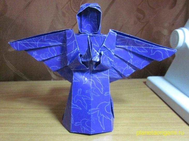 Ангел из бумаги по схеме Tadashi Mori