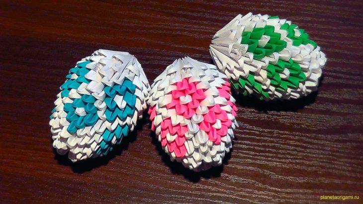 Яйцо модульное оригами мастер класс сделай сам #4